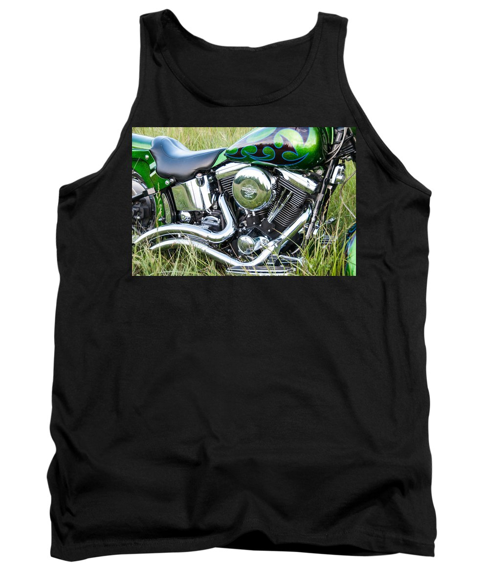 Fat Boy Tank Top featuring the photograph More Chrome by Guy Whiteley