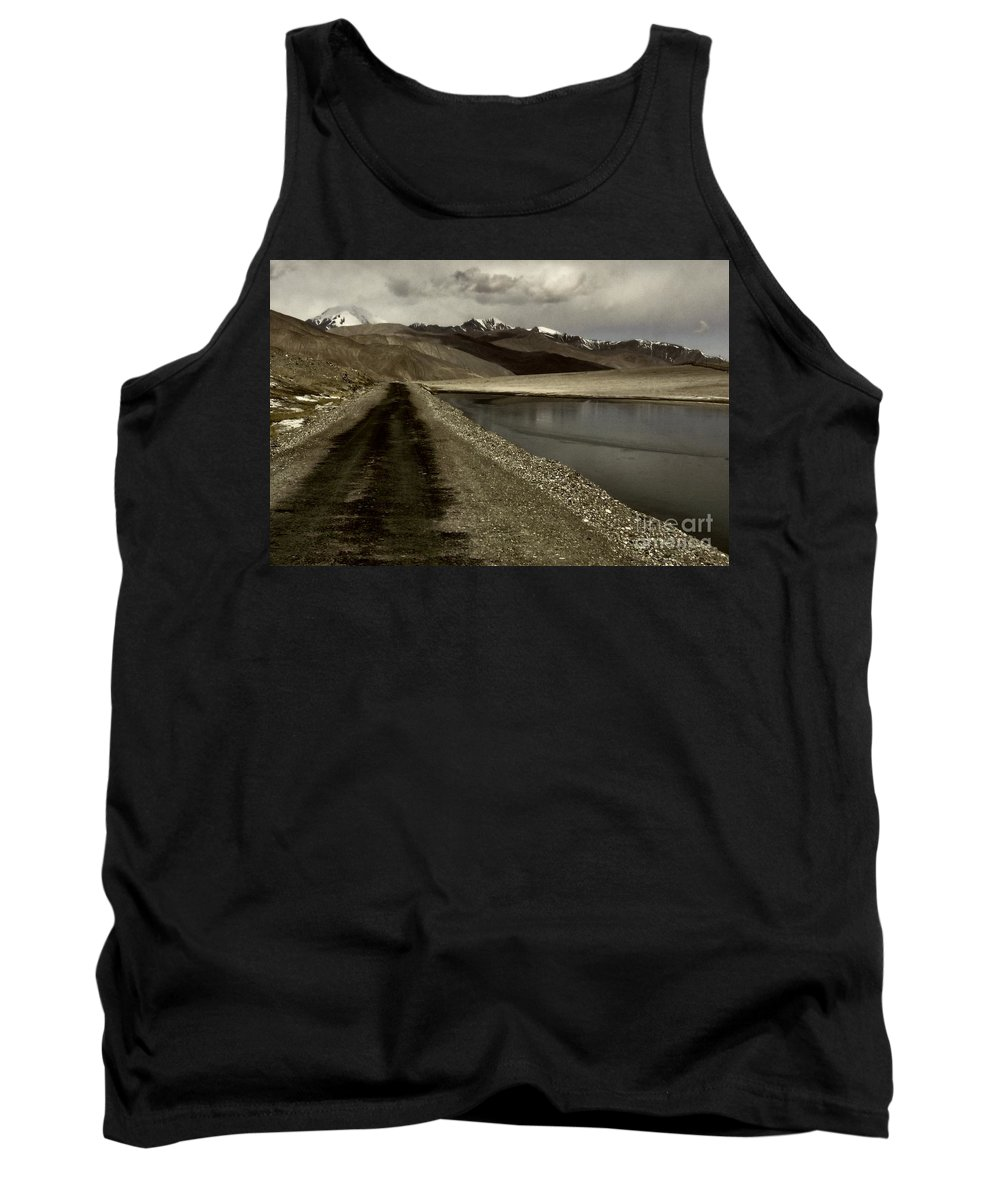 Tank Top featuring the photograph Pamir Highway by Karla Weber