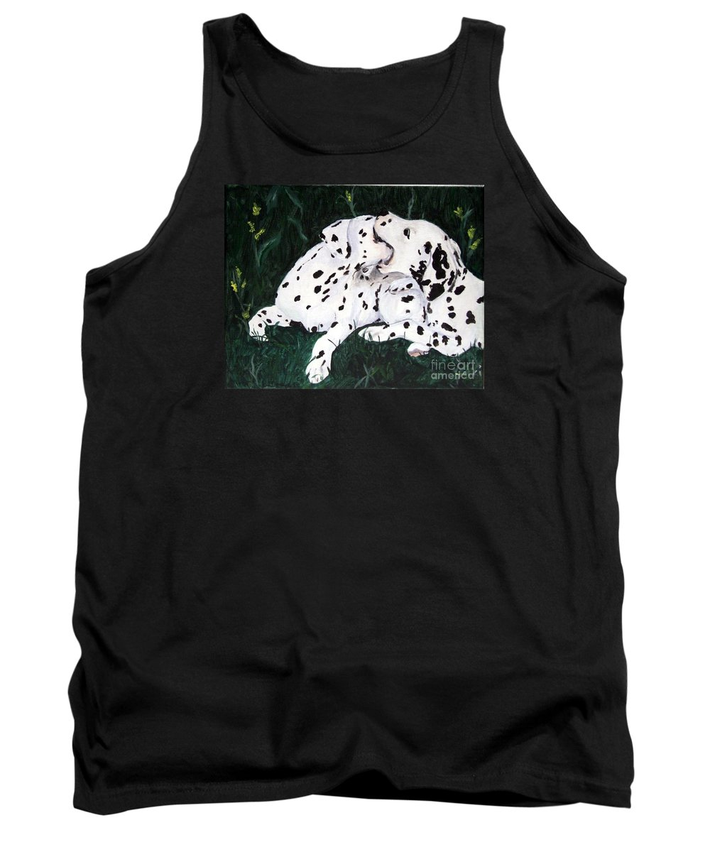 Dogs Tank Top featuring the painting Playful Pups by Jacki McGovern
