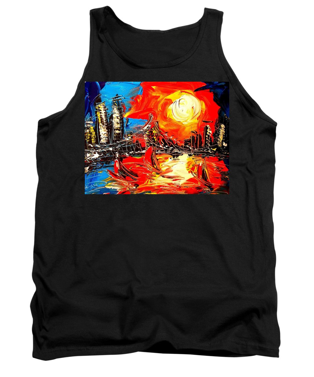 Tank Top featuring the painting SUN by Mark Kazav