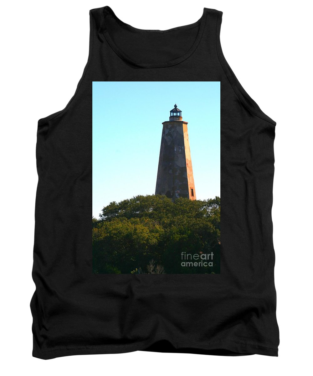 Lighthouse Tank Top featuring the photograph The Lighthouse by Nadine Rippelmeyer