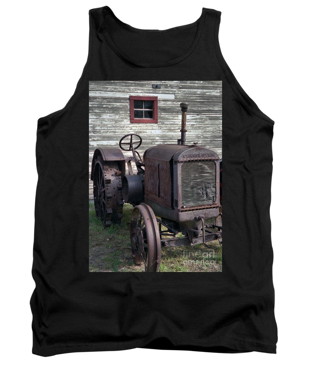 Farm Tractor Tank Top featuring the photograph The Old Mule by Richard Rizzo