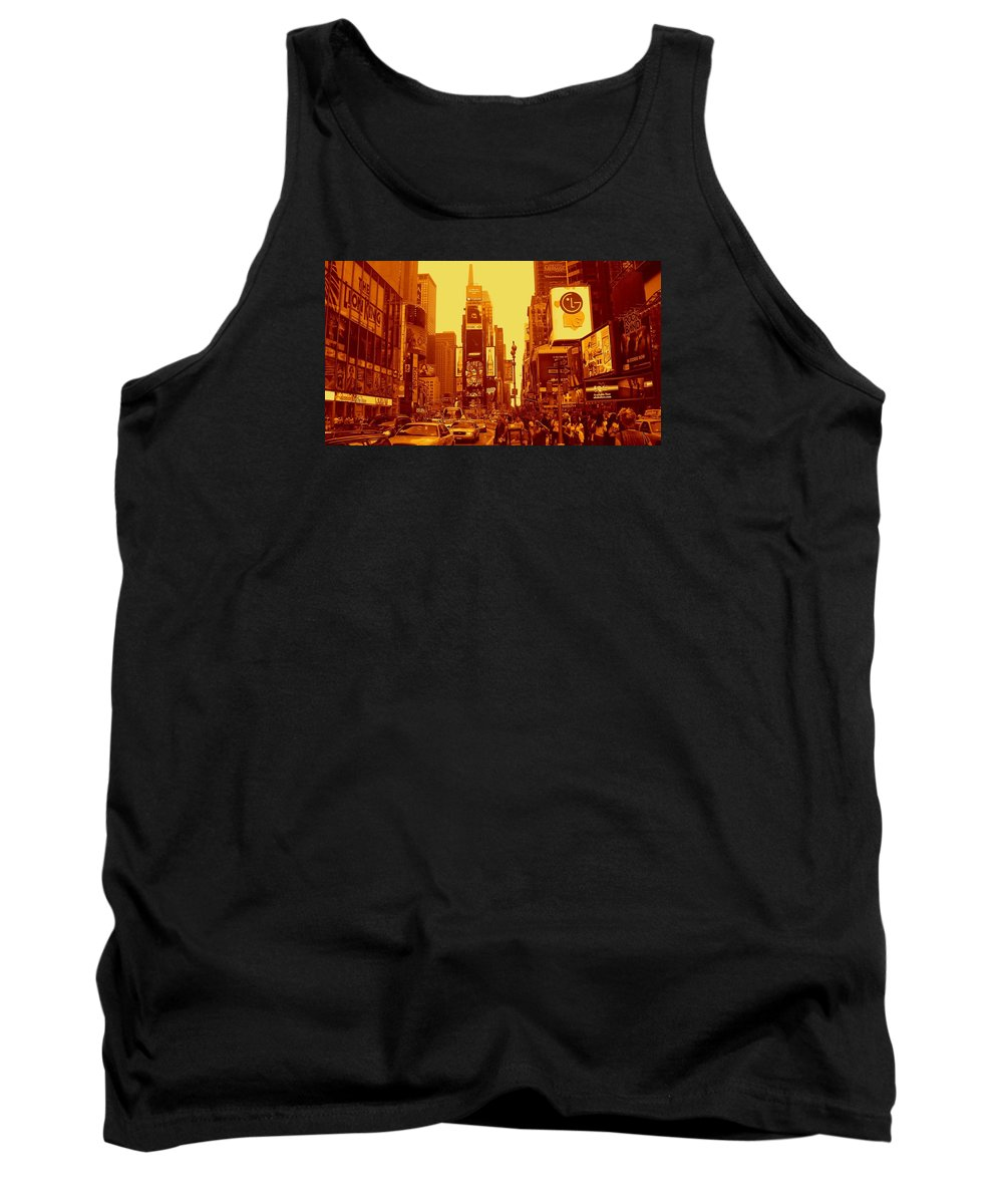 Manhattan Prints Tank Top featuring the photograph 42nd Street And Times Square Manhattan by Monique's Fine Art