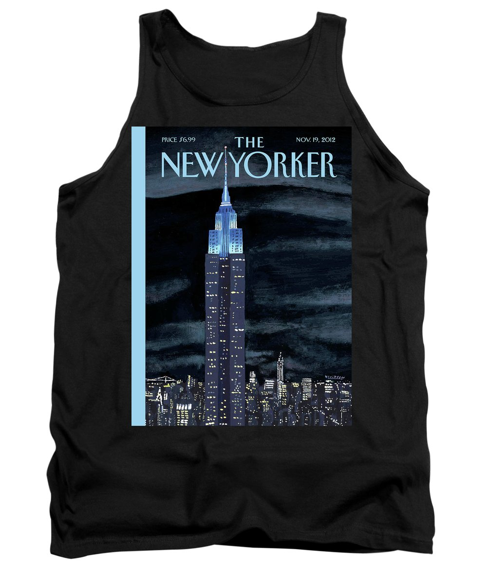 New York City Tank Top featuring the painting New Yorker November 19th, 2012 by Mark Ulriksen