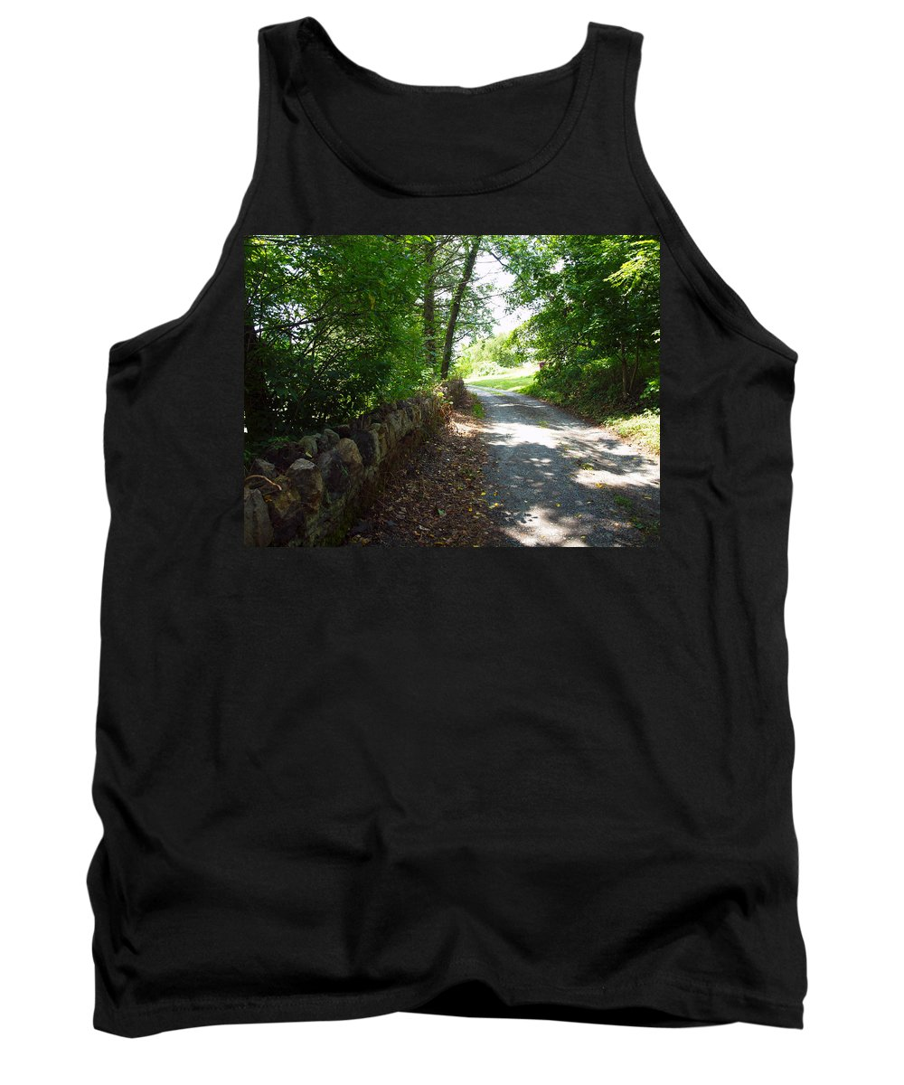 Cabins Tank Top featuring the photograph Up Over The Hill by Robert Margetts