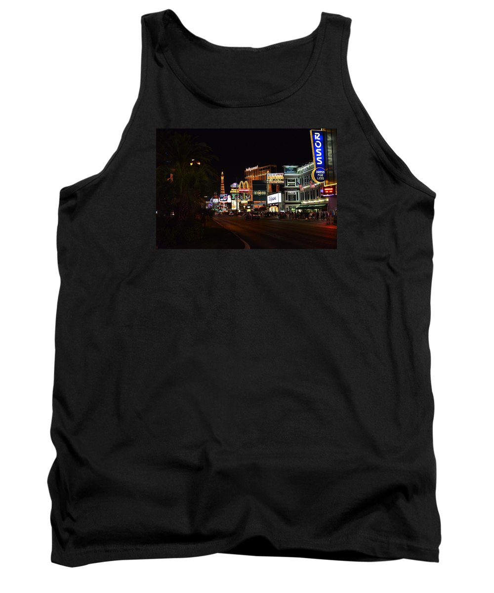 Las Tank Top featuring the photograph Vegas by FL collection