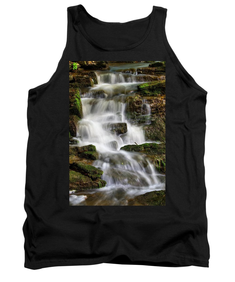 Hdr Tank Top featuring the pyrography Waterfall by Steffen Gierok
