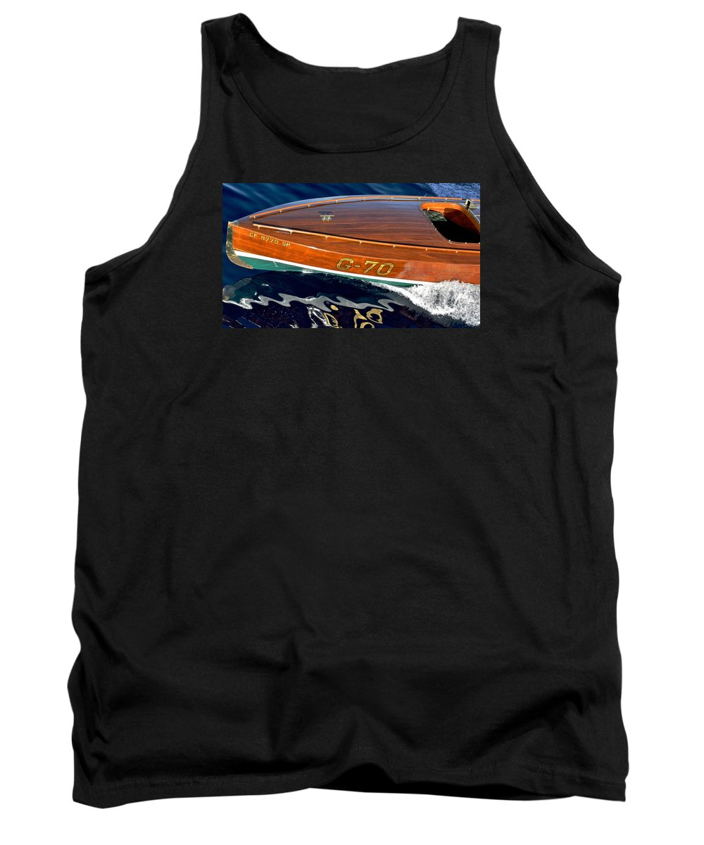 Classic Race Boat Tank Top featuring the photograph Vintage Ditchburn Racer by Steven Lapkin