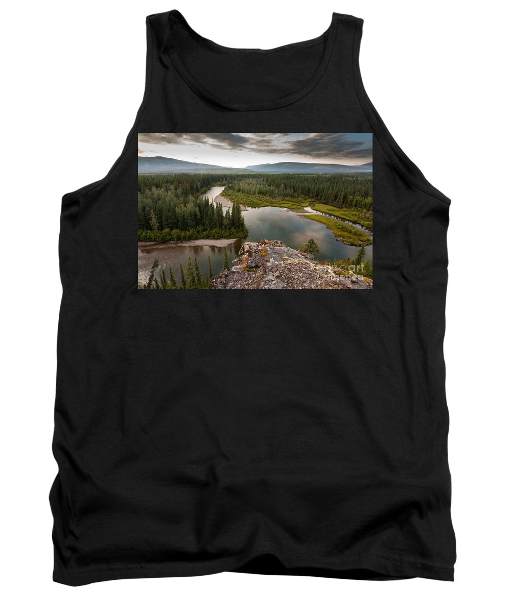 Beautiful Tank Top featuring the photograph Yukon Canada Taiga Wilderness And Mcquesten River by Stephan Pietzko