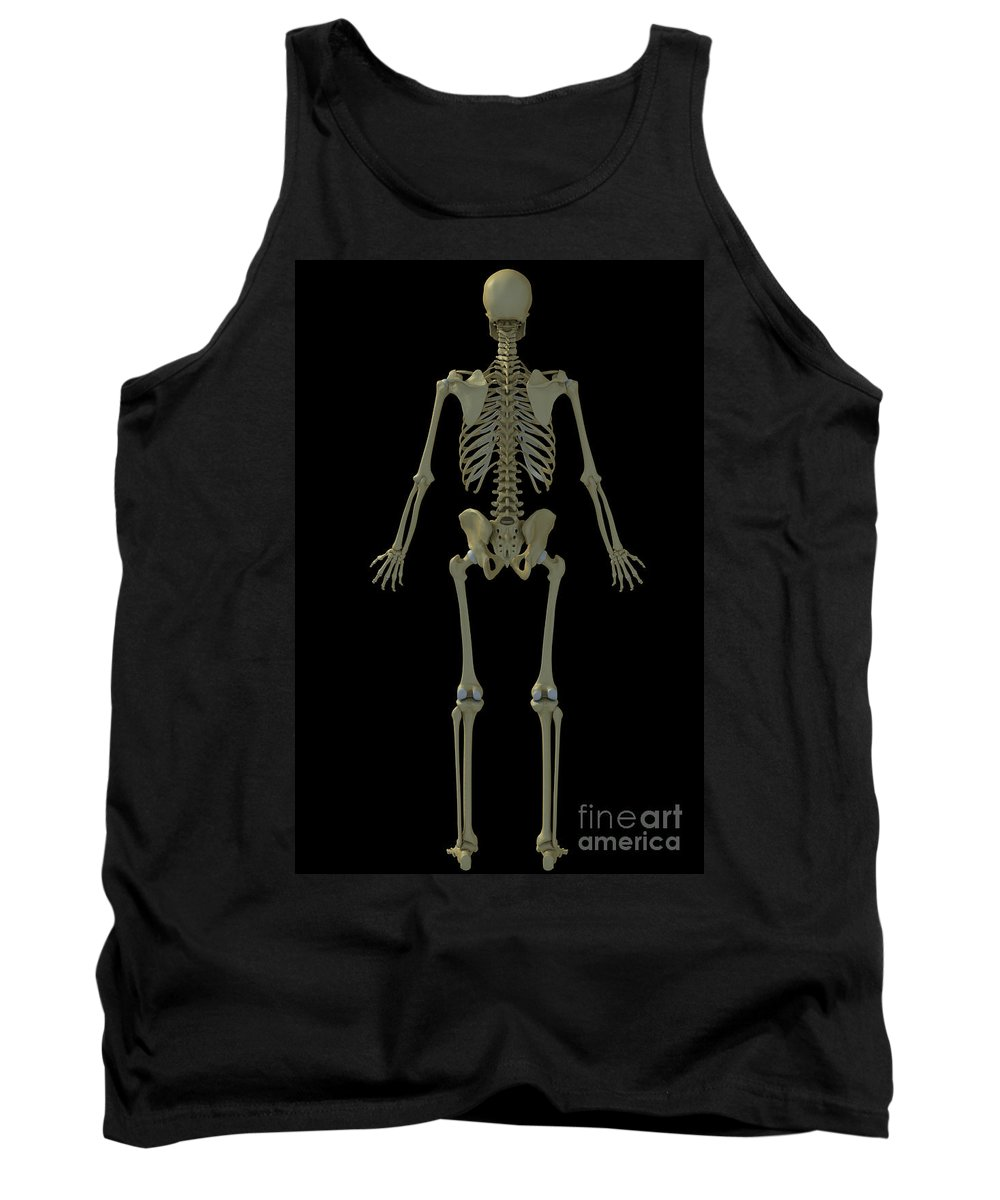 Tibia Tank Top featuring the photograph The Skeleton by Science Picture Co