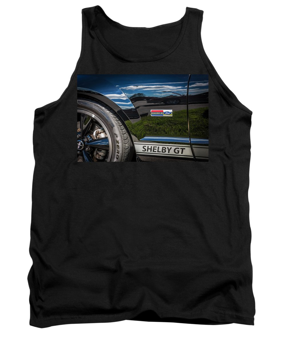 2007 Mustang Tank Top featuring the photograph 2007 Ford Mustang Shelby Gt500 Painted  by Rich Franco