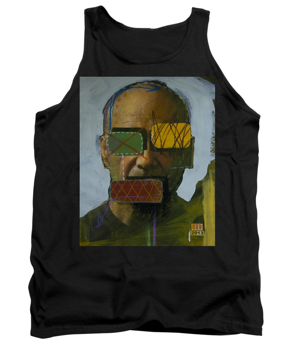 Painted Photographs Tank Top featuring the painting 2262 by D A Metrov