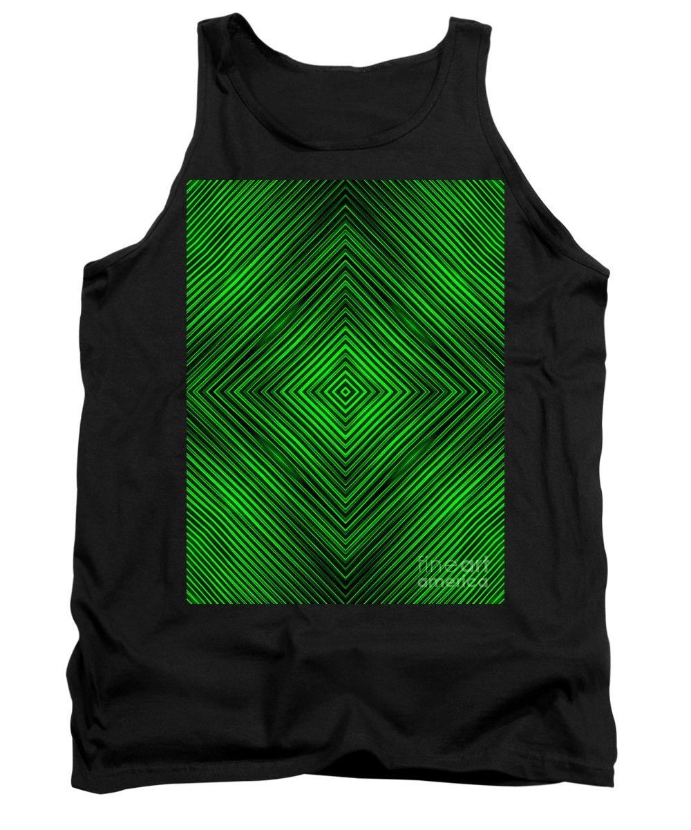 Abstract Tank Top featuring the digital art Abstract by Dan Radi