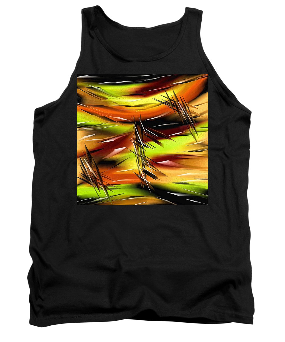 Abstract Tank Top featuring the painting 271a by Ely Arsha