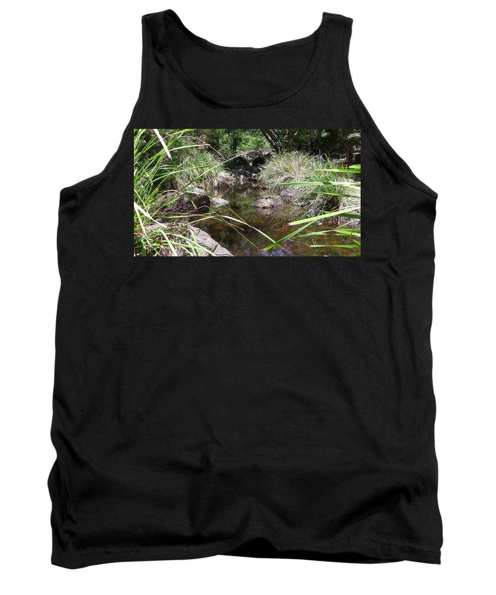 Australia Tank Top featuring the photograph Australia - The Bush Pool by Jeffrey Shaw