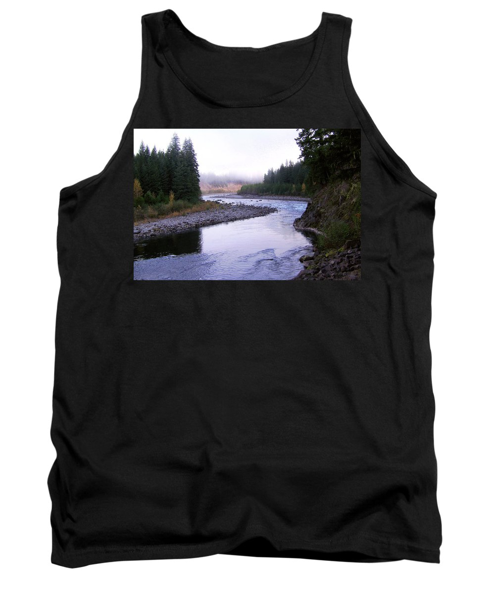 Bloom Tank Top featuring the photograph A Mountain Stream by J D Owen