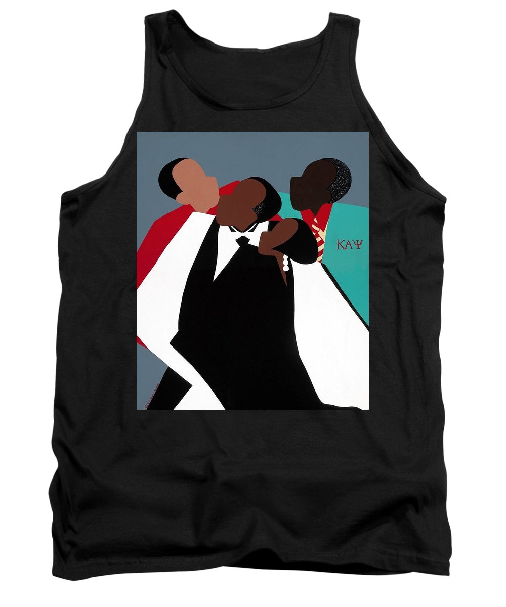 Kappas Tank Top featuring the painting Brotherhood by Synthia SAINT JAMES