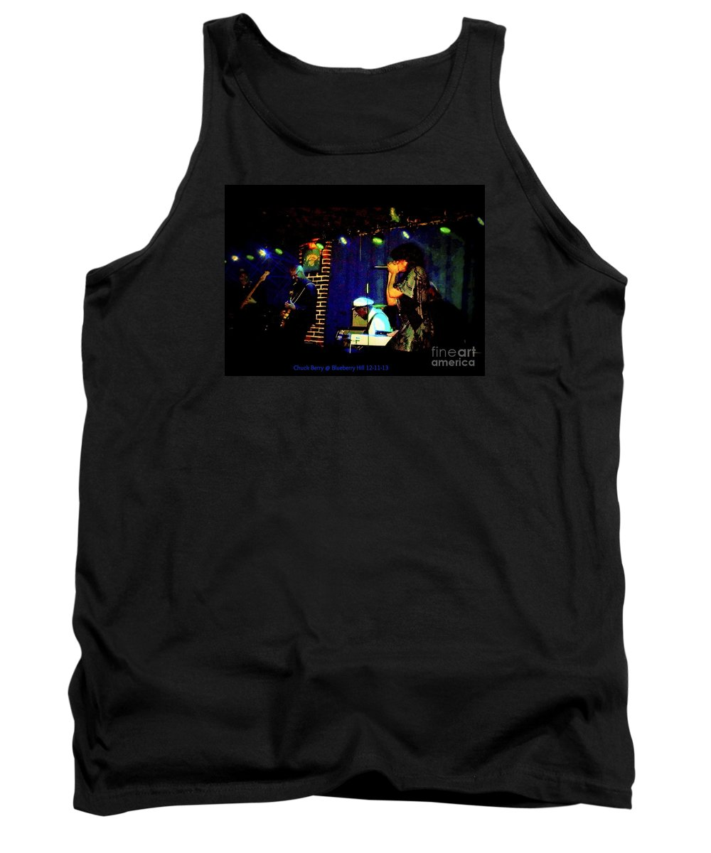 Tank Top featuring the photograph Chuck Berry At Blueberry Hill 12-11-13 by Kelly Awad