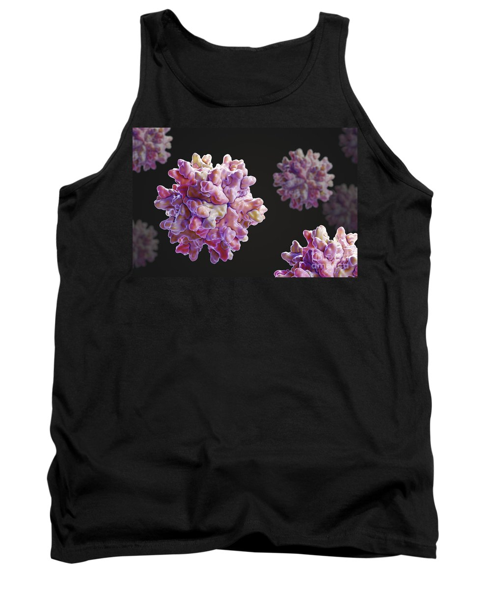 Virus Tank Top featuring the photograph Infectious Bursal Disease Virus by Science Picture Co