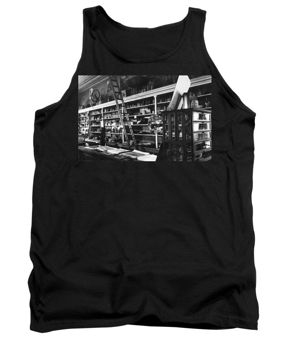 Interior The Old Store Pearce Mercantile Ghost Town Pearce Arizona 1971 Tank Top featuring the photograph Interior The Old Store Pearce Mercantile Ghost Town Pearce Arizona 1971 by David Lee Guss