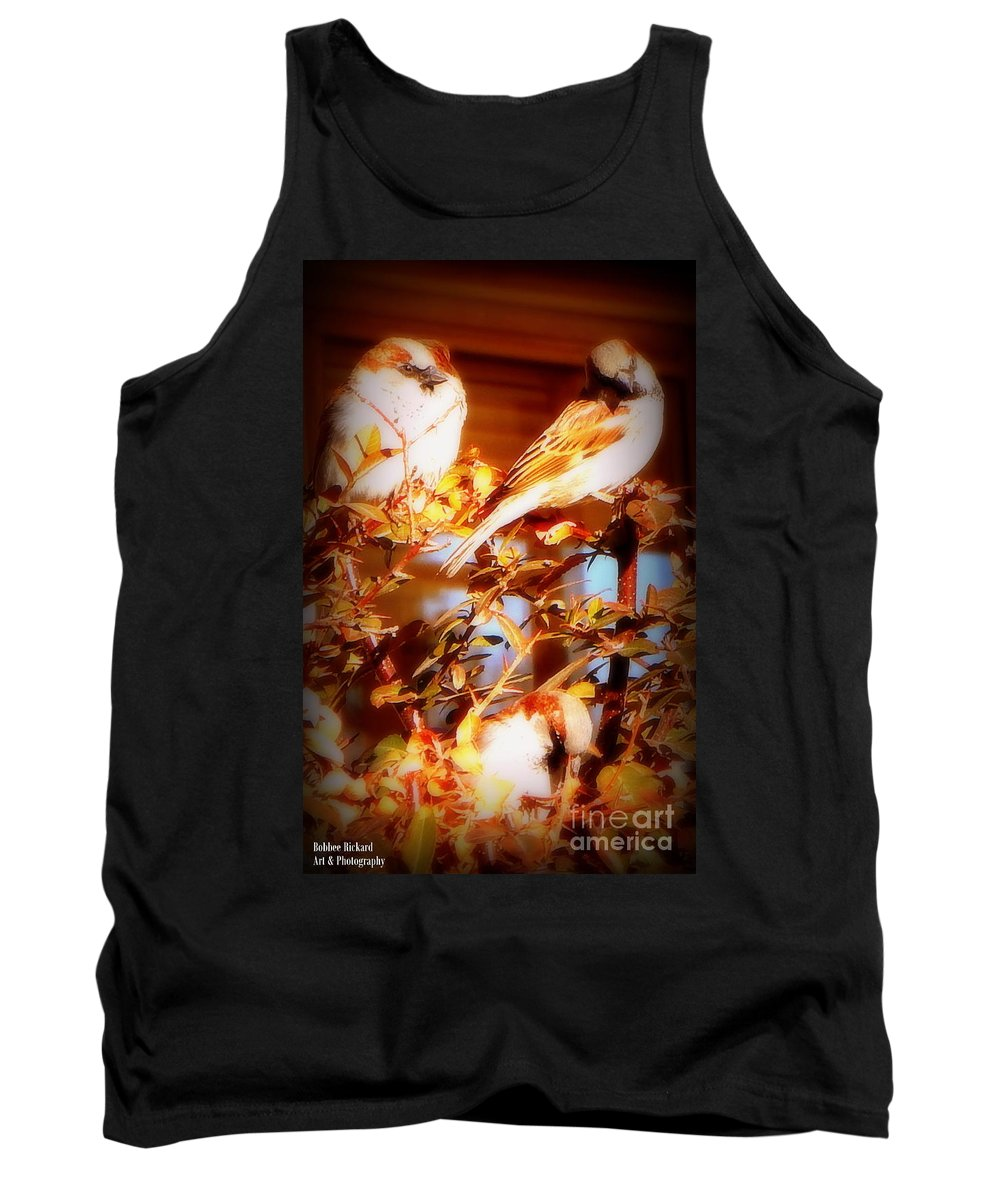 Acrylic Prints Tank Top featuring the photograph 3 Lil Birdies Sittin In The Tree by Bobbee Rickard