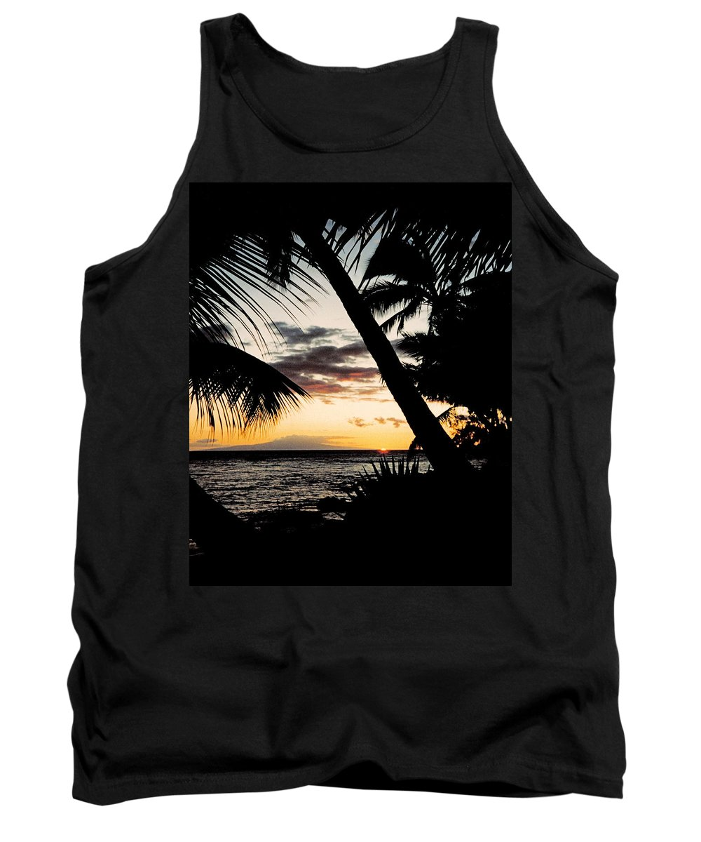 Dusk Tank Top featuring the photograph Maui Sunset by J D Owen