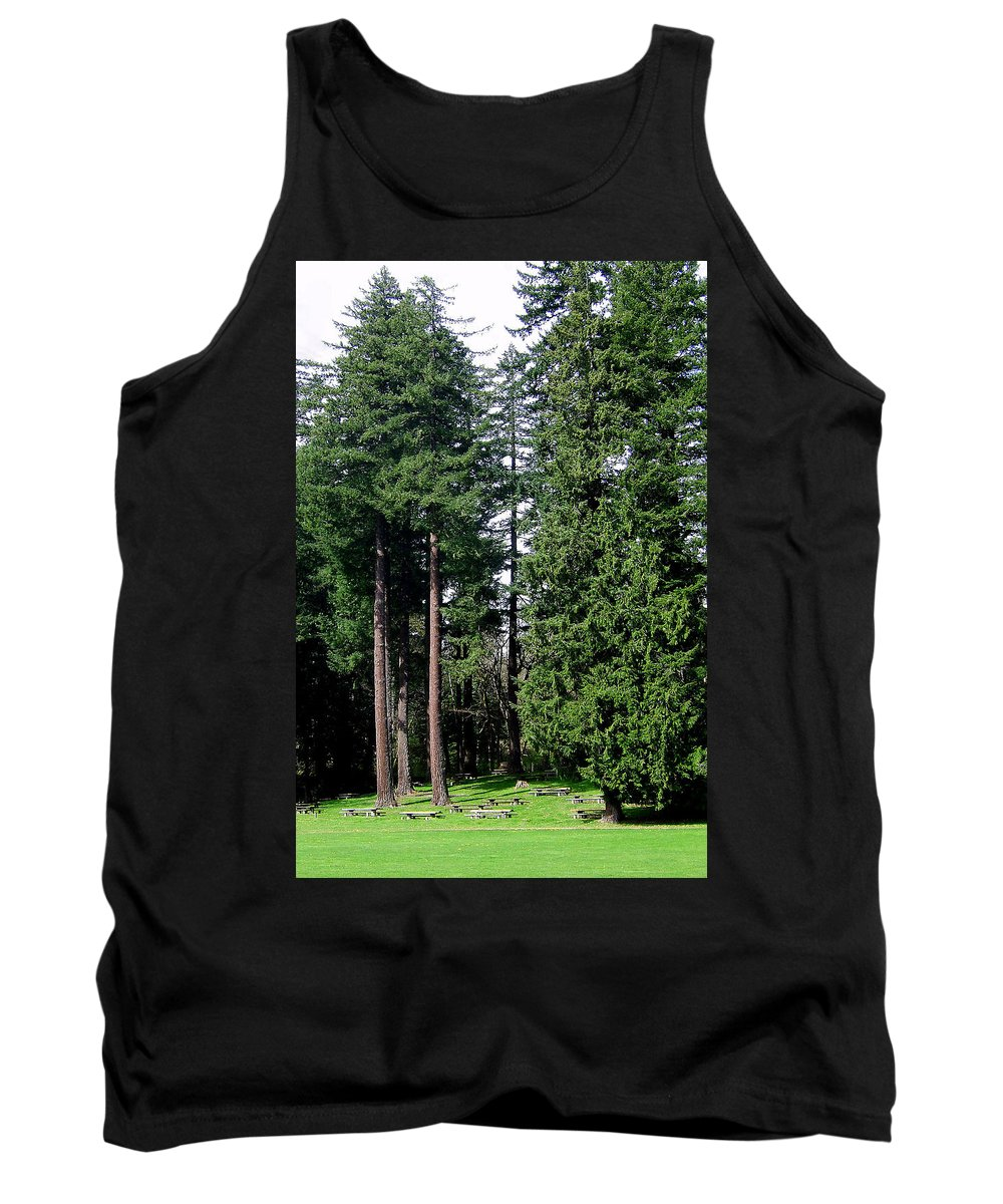 Bloom Tank Top featuring the photograph Picnic With The Giants by J D Owen