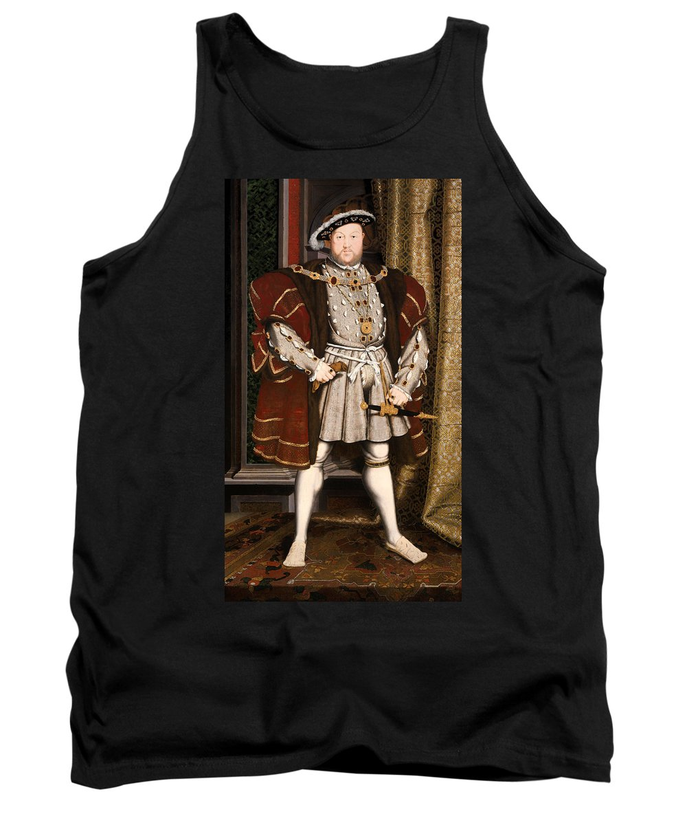 Painting Tank Top featuring the painting Portrait Of Henry Viii by Mountain Dreams