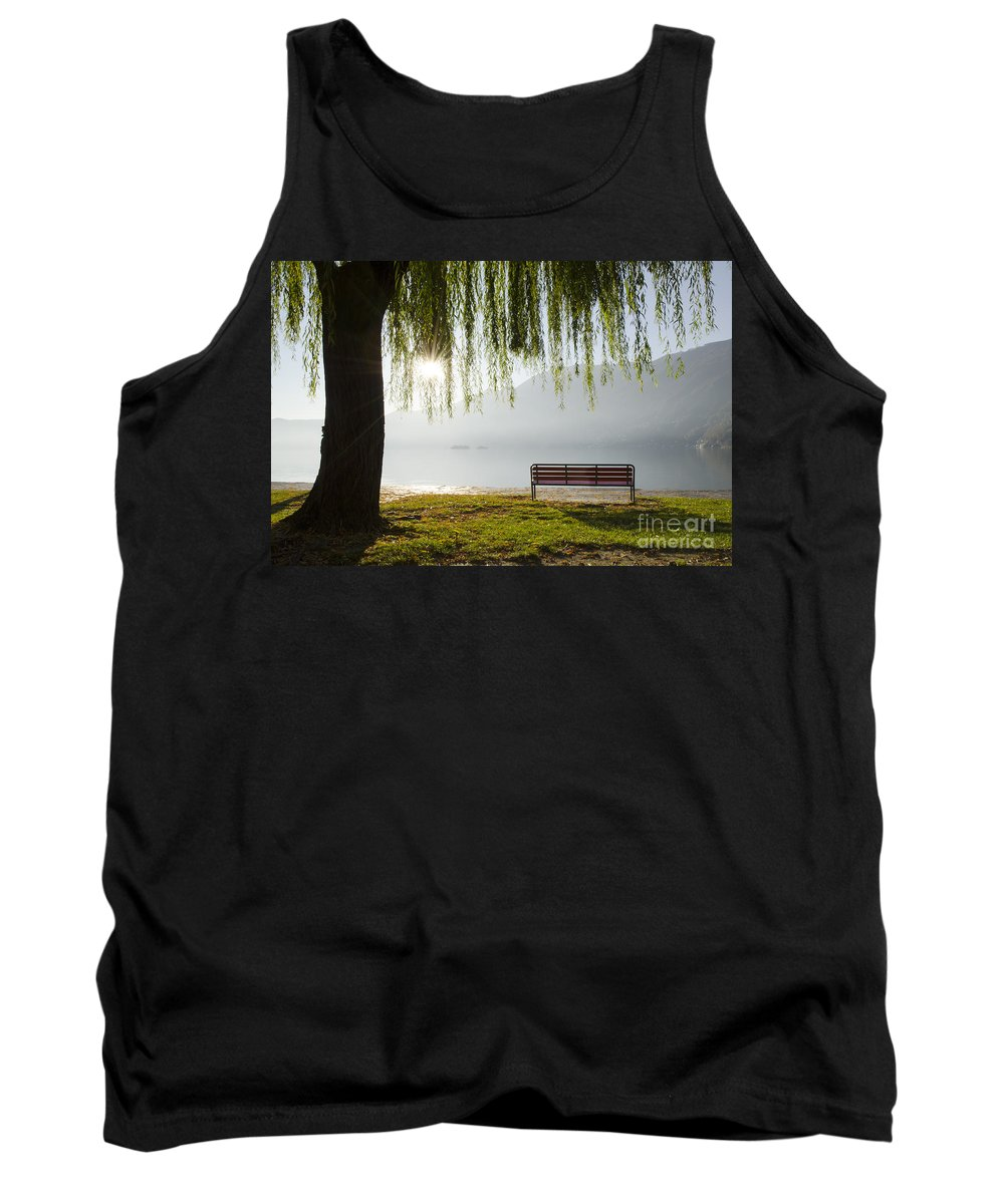 Bench Tank Top featuring the photograph Relax by Mats Silvan