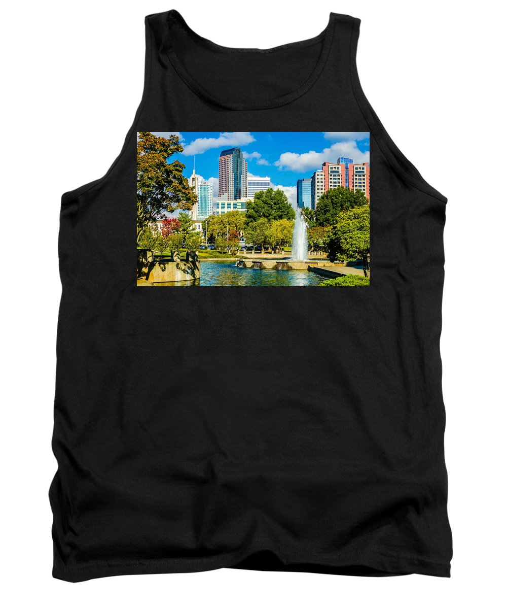 Architecture Tank Top featuring the photograph Skyline Of A Modern City - Charlotte North Carolina Usa by Alex Grichenko