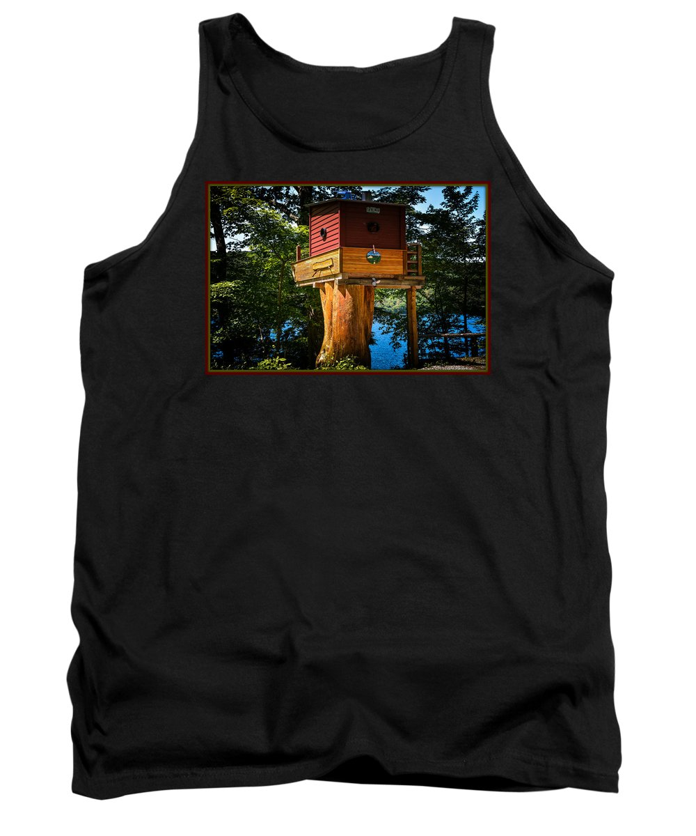 House Tank Top featuring the photograph Tree House by Sherman Perry
