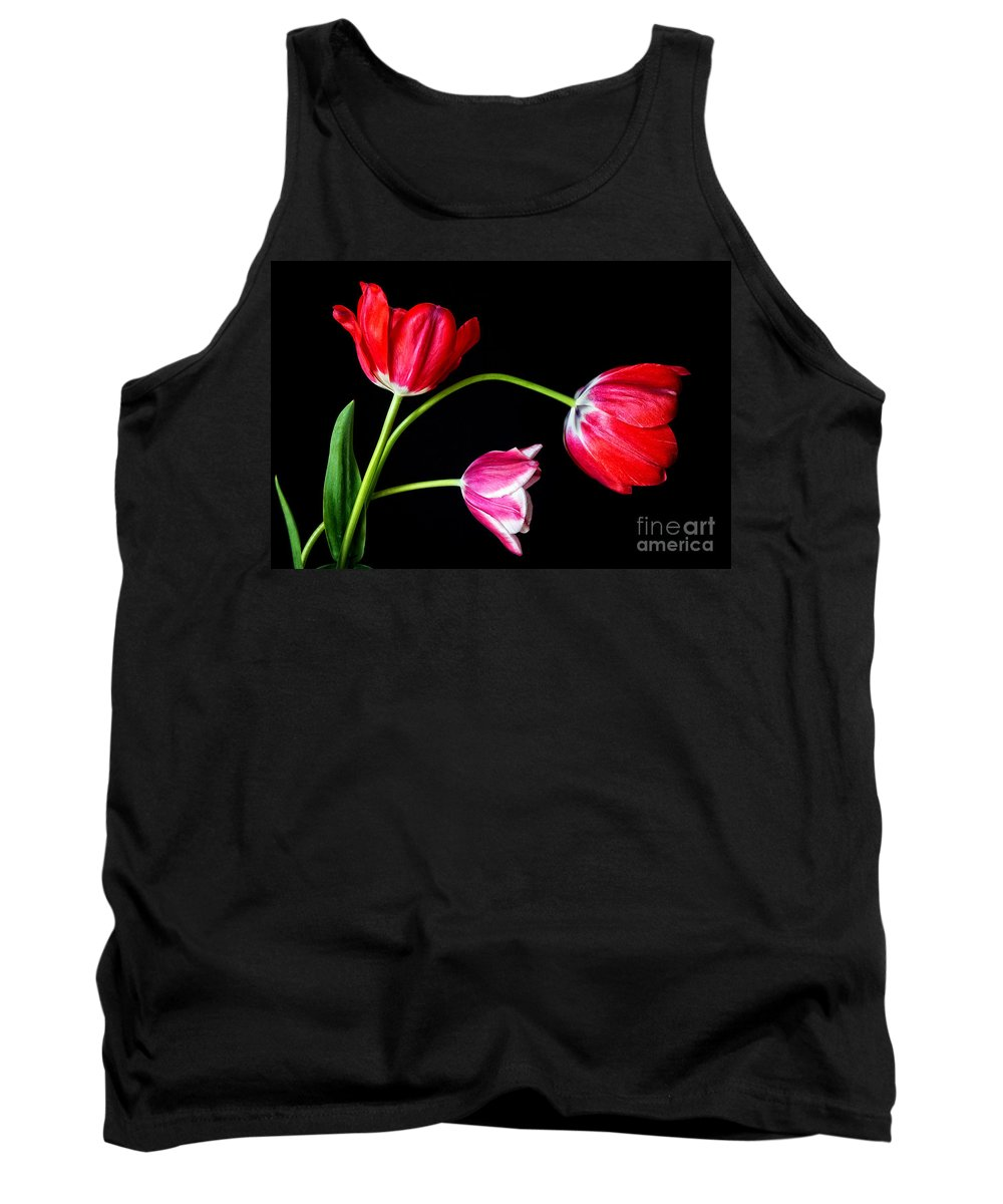Tulips Tank Top featuring the photograph 3 Tulips - 213 by Paul W Faust - Impressions of Light
