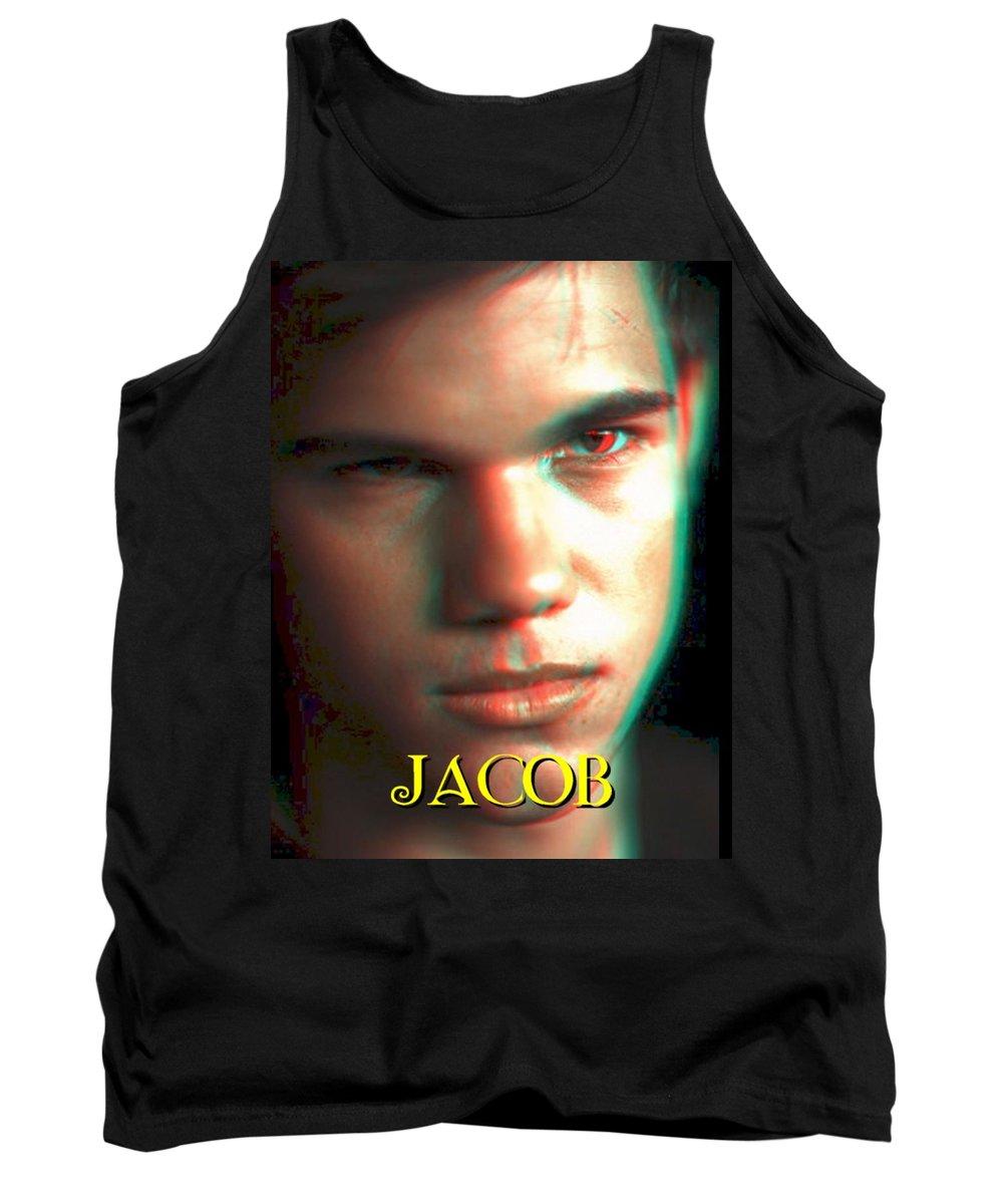 Jacob Tank Top featuring the photograph 3d Jacob by Paul Van Scott