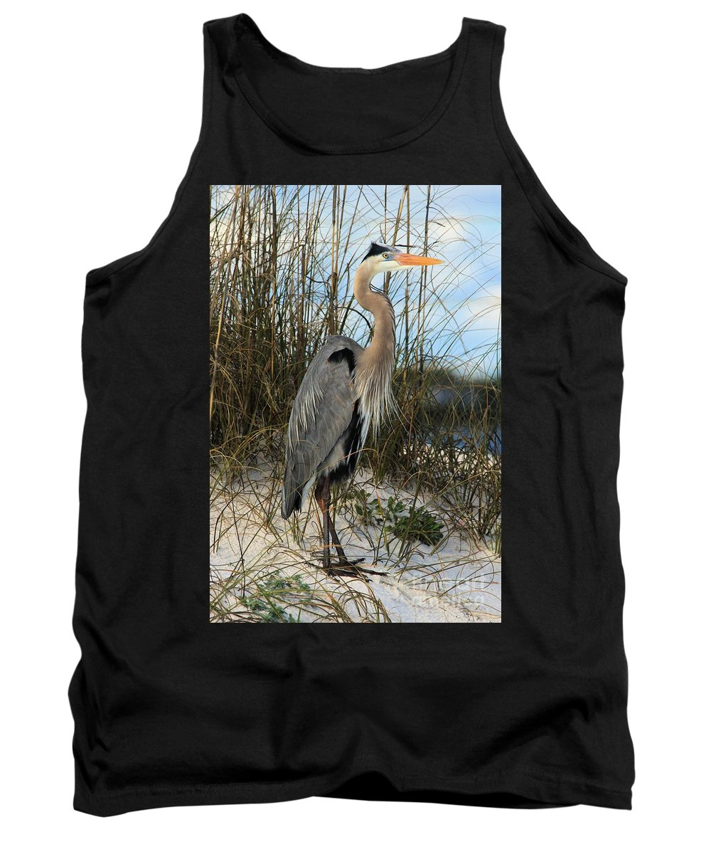 Gulf Islands National Seashore Tank Top featuring the photograph Blending In by Adam Jewell