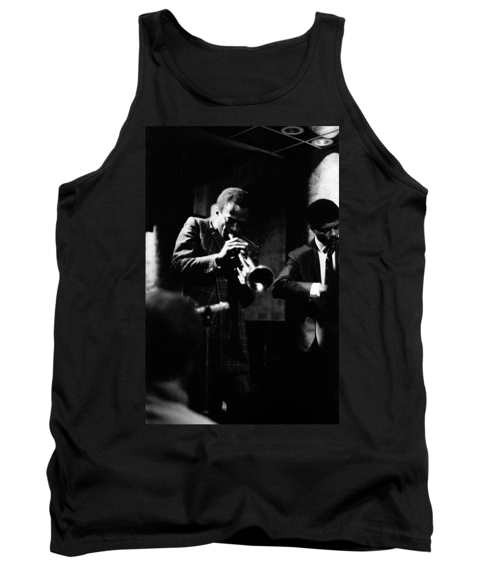 Jazz Tank Top featuring the photograph Miles Davis At The Penthouse by Dave Coleman