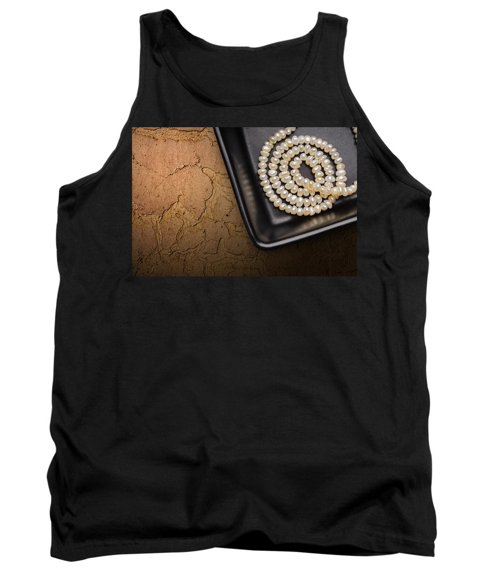Accessory Tank Top featuring the photograph Natural Pearls Necklace by Alain De Maximy