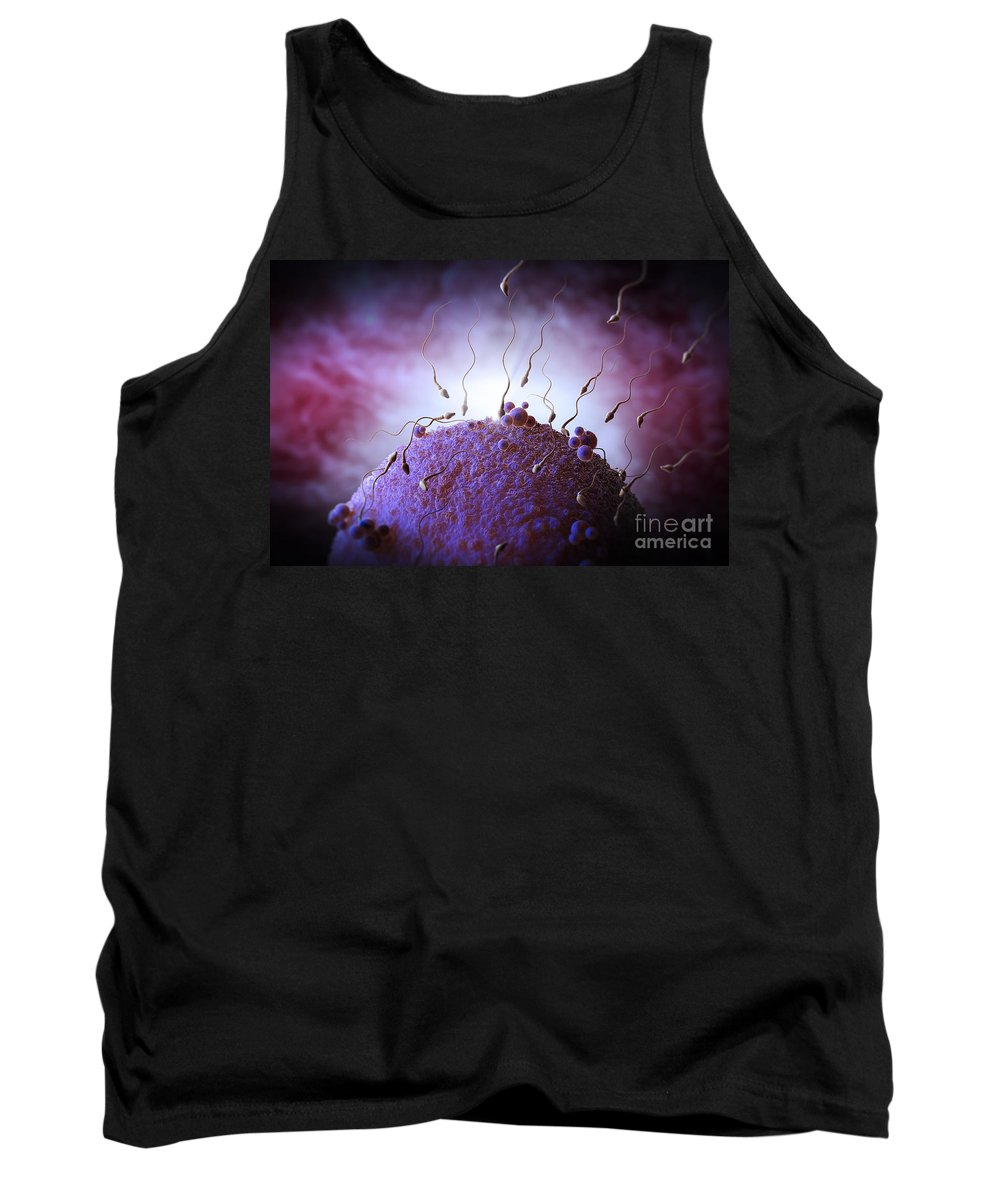 Fertility Tank Top featuring the photograph Sperm And Ovum by Science Picture Co