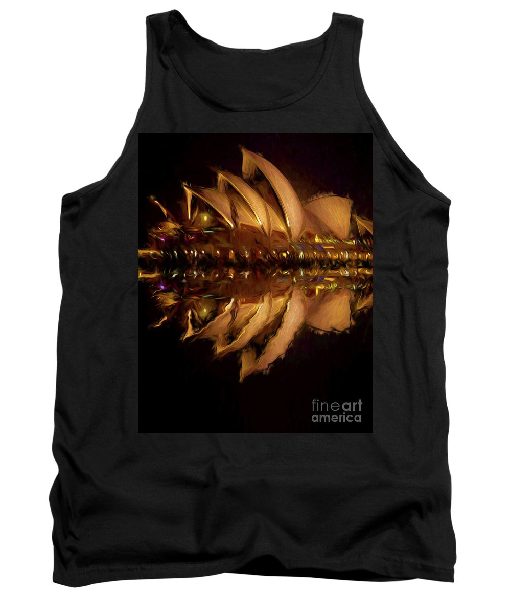 Sydney Harbour Tank Top featuring the photograph Sydney Opera House abstract by Sheila Smart Fine Art Photography