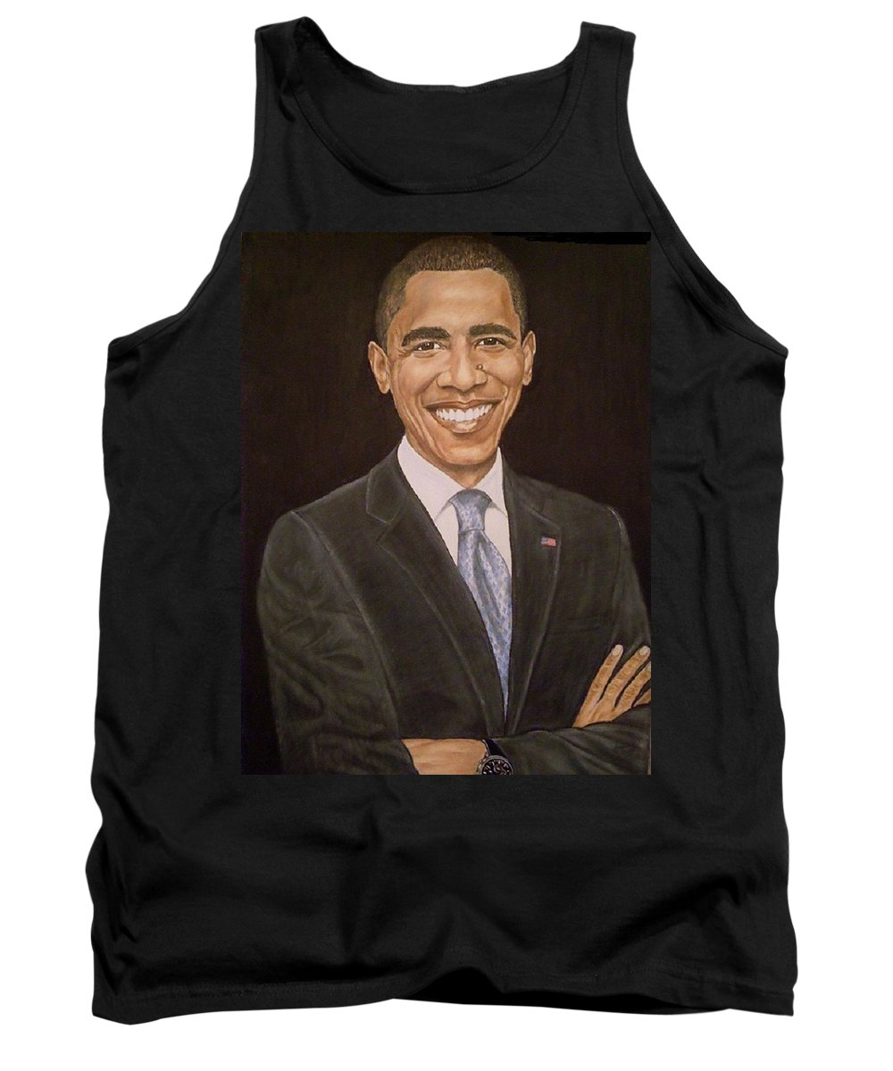 Portrait Tank Top featuring the pastel 44th Though First by Arron Kirkwood