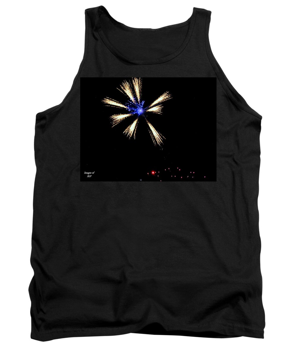 Fireworks Tank Top featuring the photograph Fireworks In Neon by Scott Polley