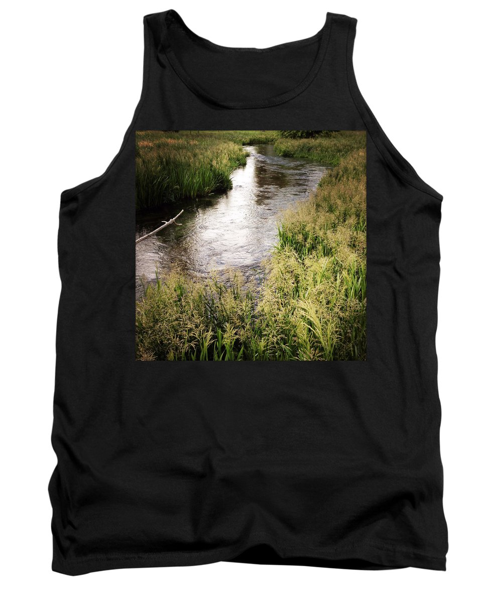 Water Tank Top featuring the photograph Water Flowing by Les Cunliffe
