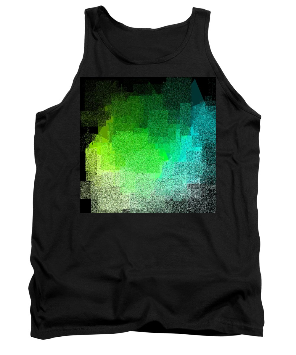 Abstract Tank Top featuring the digital art 5120.5.1 by Gareth Lewis