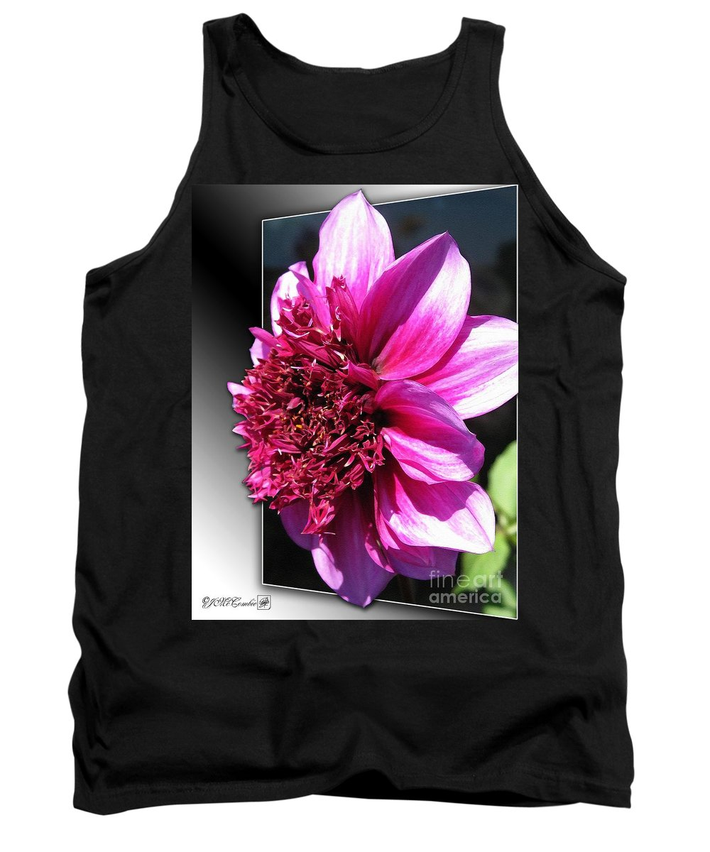 Dahlia Tank Top featuring the painting Dahlia Named Blue Bayou by J McCombie