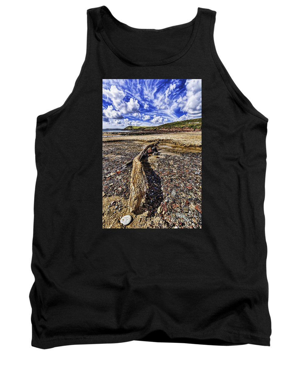 Driftwood Tank Top featuring the photograph Driftwood by Steve Purnell