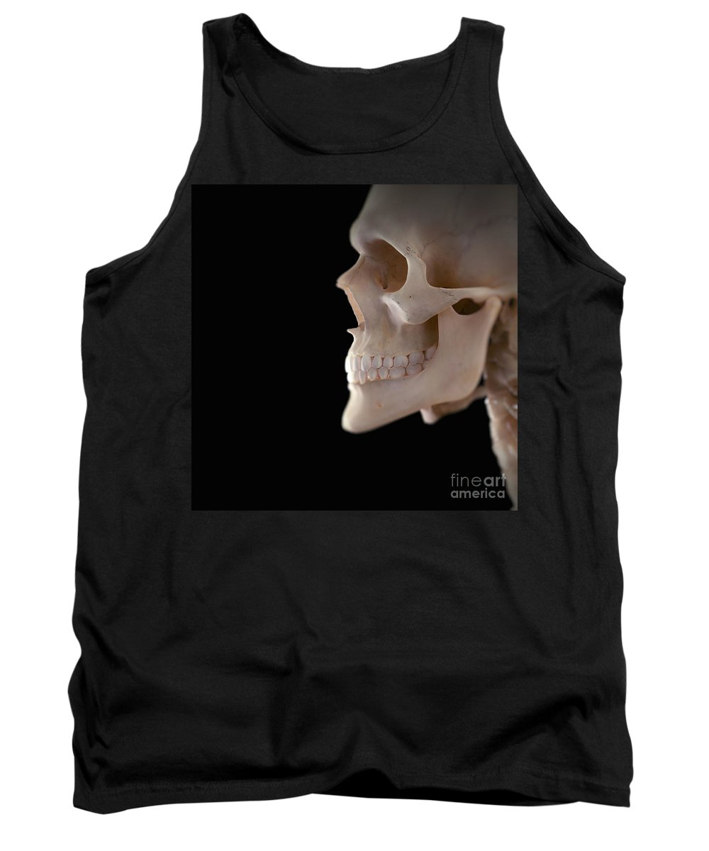 Human Body Tank Top featuring the photograph Human Skull by Science Picture Co