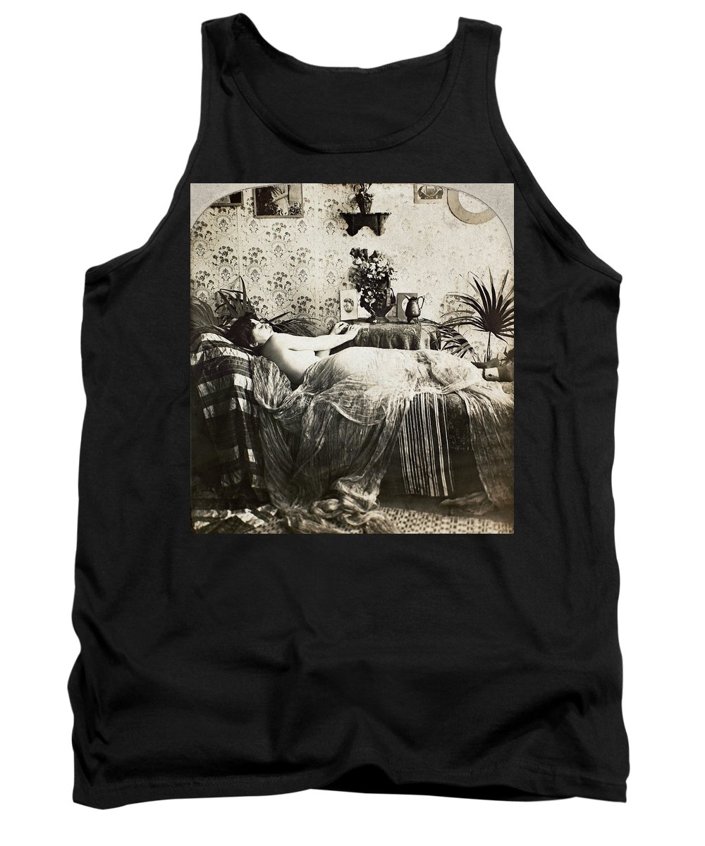 1890 Tank Top featuring the photograph Sleeping Woman, C1900 by Granger