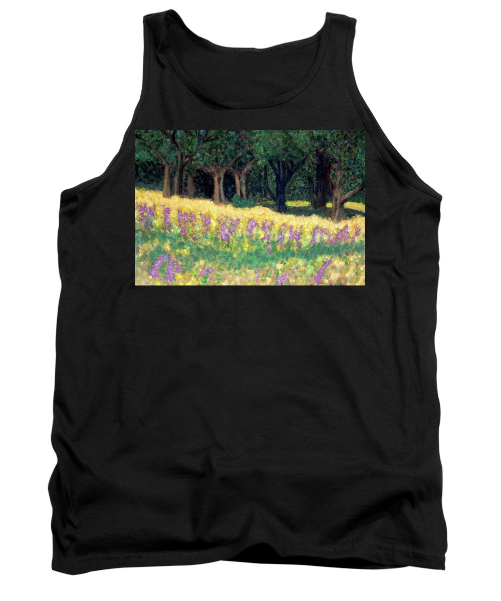 Texas Tank Top featuring the painting Texas Gold by Carolyn Donnell