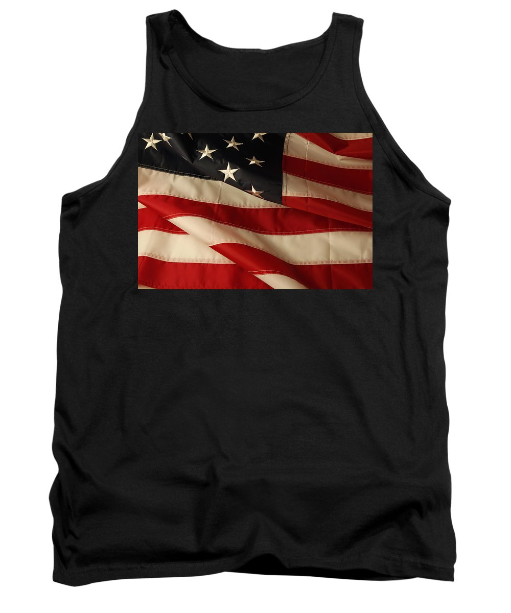 Flag Tank Top featuring the photograph USA by Les Cunliffe
