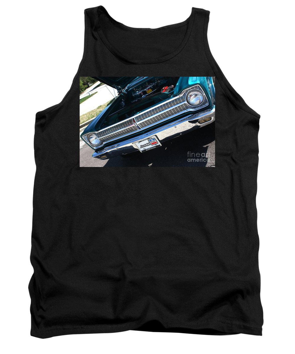 1965 Tank Top featuring the photograph 65 Plymouth Satellite Grill-8481 by Gary Gingrich Galleries