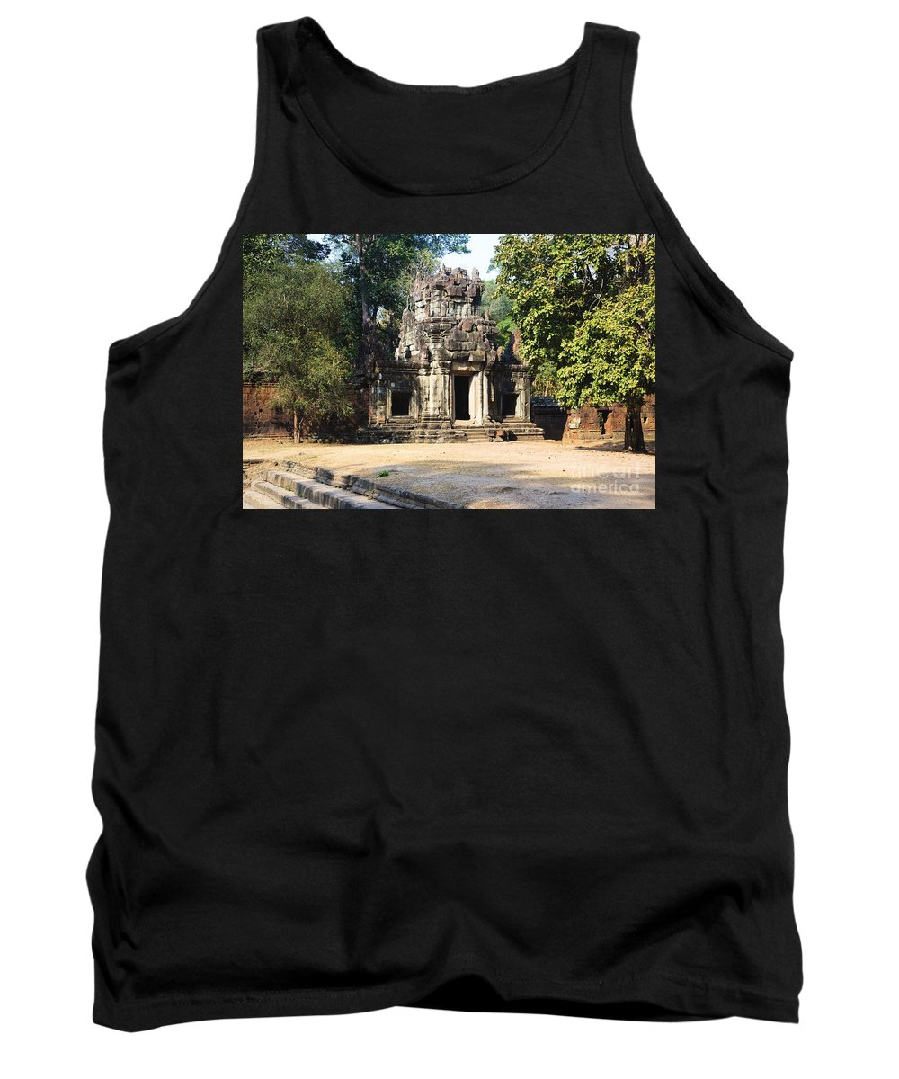 Unesco Tank Top featuring the photograph Angkor Thom by David Davis